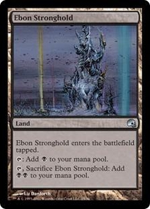 Magic the Gathering Premium Deck Series: Graveborn Single Card Land Uncommon #25 Ebon Stronghold