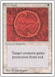 Magic the Gathering Unlimited Edition Single Card Uncommon Red Ward