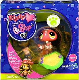 Littlest Pet Shop Blythe Loves Postcards Series 1 Figure Desert Fun Snake