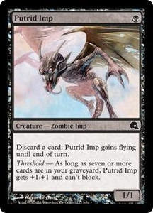 Magic the Gathering Premium Deck Series: Graveborn Single Card Black Common #1 Putrid Imp