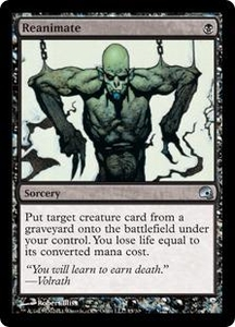 Magic the Gathering Premium Deck Series: Graveborn Single Card Black Uncommon #15 Reanimate
