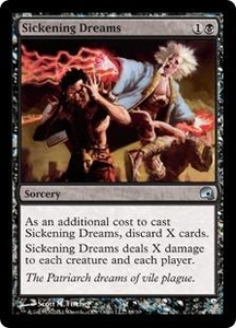 Magic the Gathering Premium Deck Series: Graveborn Single Card Black Uncommon #18 Sickening Dreams