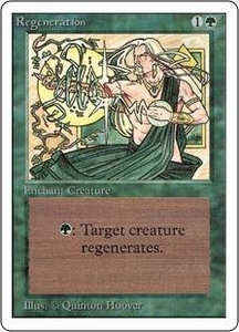 Magic the Gathering Unlimited Edition Single Card Common Regeneration