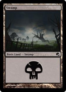 Magic the Gathering Premium Deck Series: Graveborn Single Card Land Land #27 Swamp