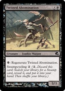 Magic the Gathering Premium Deck Series: Graveborn Single Card Black Common #4 Twisted Abomination