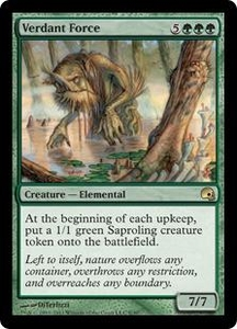 Magic the Gathering Premium Deck Series: Graveborn Single Card Green Rare #8 Verdant Force