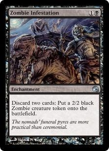 Magic the Gathering Premium Deck Series: Graveborn Single Card Black Uncommon #19 Zombie Infestation