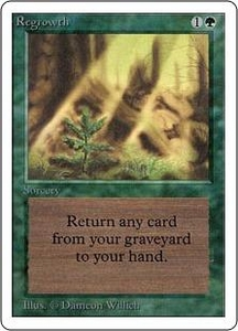 Magic the Gathering Unlimited Edition Single Card Uncommon Regrowth