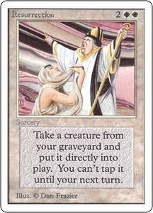 Magic the Gathering Unlimited Edition Single Card Uncommon Resurrection