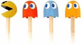Namco Pac-Man Pencil Toppers with Pencils