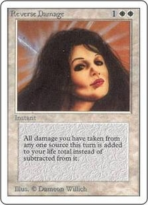 Magic the Gathering Unlimited Edition Single Card Rare Reverse Damage
