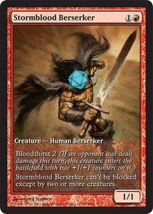 Magic the Gathering Other Promo Card Stormblood Berserker [Magic 2012 Game Day]