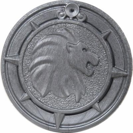 Playmobil LOOSE Accessory Large Silver Coin - Lion Design