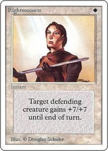 Magic the Gathering Unlimited Edition Single Card Rare Righteousness