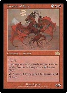 Magic the Gathering Prophecy Single Card Rare #82 Avatar of Fury Played Condition Not Mint