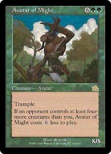 Magic the Gathering Prophecy Single Card Rare #109 Avatar of Might Played Condition Not Mint