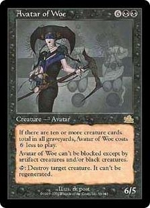 Magic the Gathering Prophecy Single Card Rare #56 Avatar of Woe