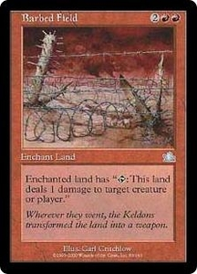 Magic the Gathering Prophecy Single Card Uncommon #83 Barbed Field