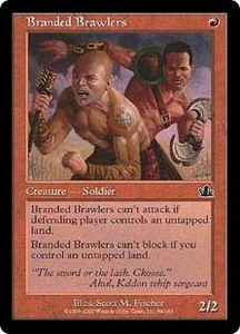 Magic the Gathering Prophecy Single Card Common #84 Branded Brawlers