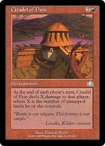 Magic the Gathering Prophecy Single Card Uncommon #86 Citadel of Pain