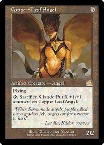 Magic the Gathering Prophecy Single Card Rare #137 Copper-Leaf Angel