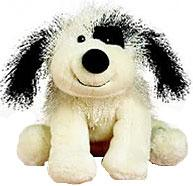 Lil'Kinz Mini Plush Black & White Cheeky Dog