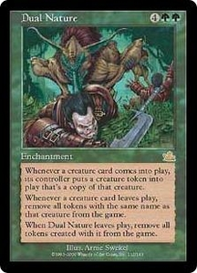 Magic the Gathering Prophecy Single Card Rare #112 Dual Nature Played Condition Not Mint
