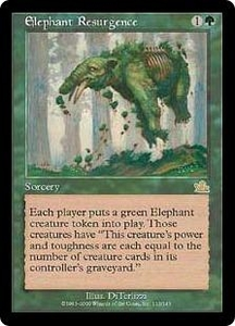 Magic the Gathering Prophecy Single Card Rare #113 Elephant Resurgence Played Condition Not Mint