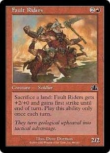 Magic the Gathering Prophecy Single Card Common #88 Fault Riders