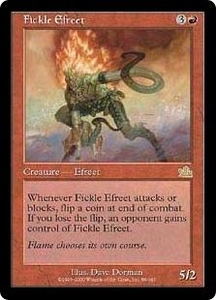 Magic the Gathering Prophecy Single Card Rare #89 Fickle Efreet Played Condition Not Mint