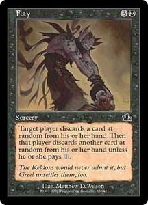 Magic the Gathering Prophecy Single Card Common #65 Flay