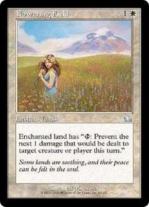 Magic the Gathering Prophecy Single Card Uncommon #9 Flowering Field