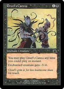 Magic the Gathering Prophecy Single Card Common #67 Greel's Caress