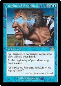 Magic the Gathering Prophecy Single Card Rare #37 Heightened Awareness Played Condition Not Mint