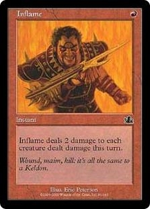Magic the Gathering Prophecy Single Card Common #91 Inflame