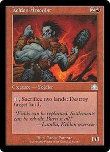 Magic the Gathering Prophecy Single Card Uncommon #92 Keldon Arsonist