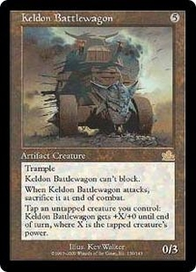 Magic the Gathering Prophecy Single Card Rare #139 Keldon Battlewagon Played Condition Not Mint