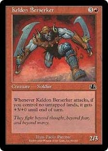 Magic the Gathering Prophecy Single Card Common #93 Keldon Berserker