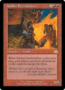 Magic the Gathering Prophecy Single Card Rare #94 Keldon Firebombers Played Condition Not Mint