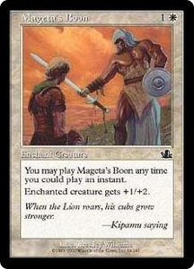 Magic the Gathering Prophecy Single Card Common #14 Mageta's Boon