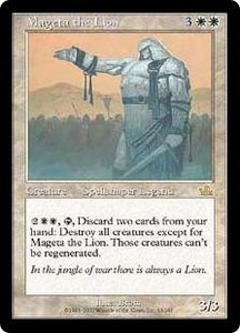 Magic the Gathering Prophecy Single Card Rare #13 Mageta the Lion Played Condition Not Mint