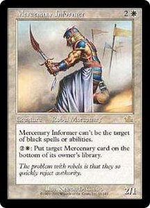 Magic the Gathering Prophecy Single Card Rare #15 Mercenary Informer