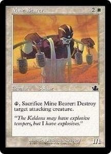 Magic the Gathering Prophecy Single Card Common #16 Mine Bearer