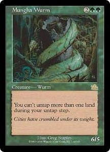 Magic the Gathering Prophecy Single Card Rare #119 Mungha Wurm Played Condition Not Mint
