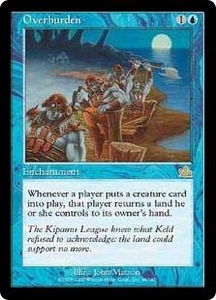 Magic the Gathering Prophecy Single Card Rare #39 Overburden Played Condition Not Mint