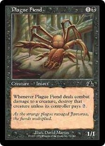 Magic the Gathering Prophecy Single Card Common #73 Plague Fiend