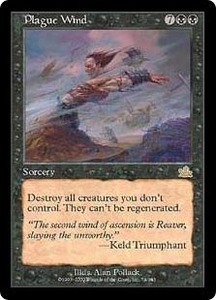 Magic the Gathering Prophecy Single Card Rare #74 Plague Wind Played Condition Not Mint
