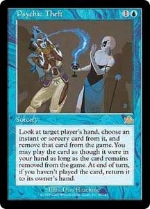 Magic the Gathering Prophecy Single Card Rare #40 Psychic Theft Played Condition Not Mint