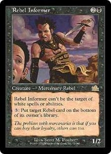 Magic the Gathering Prophecy Single Card Rare #75 Rebel Informer