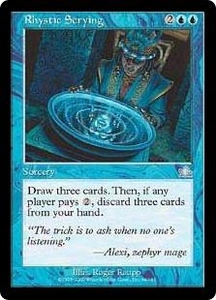Magic the Gathering Prophecy Single Card Uncommon #44 Rhystic Scrying